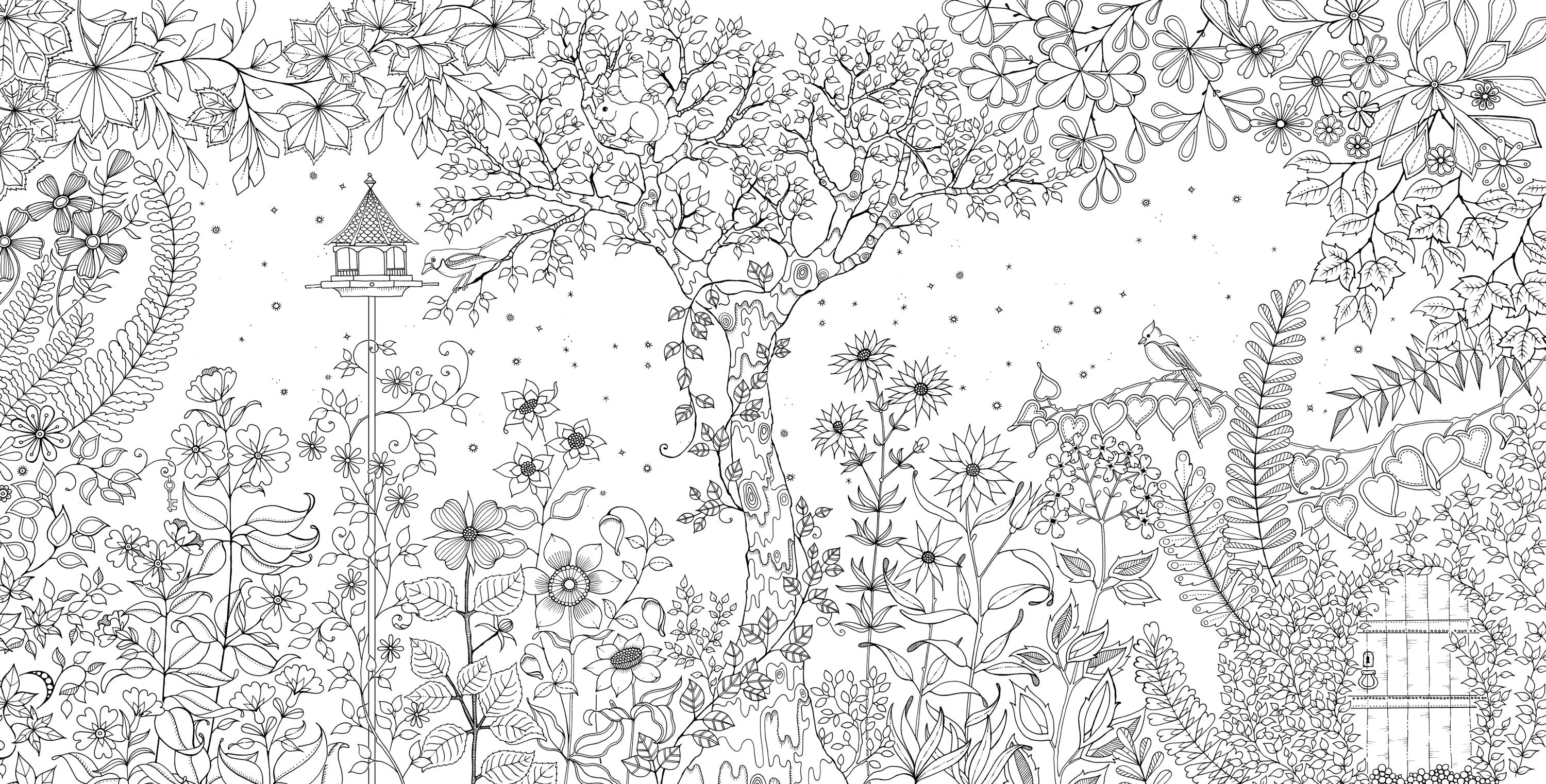 This is a graphic of Obsessed coloring books secret garden